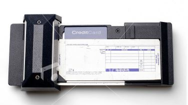 Old-style (manual) credit card machine